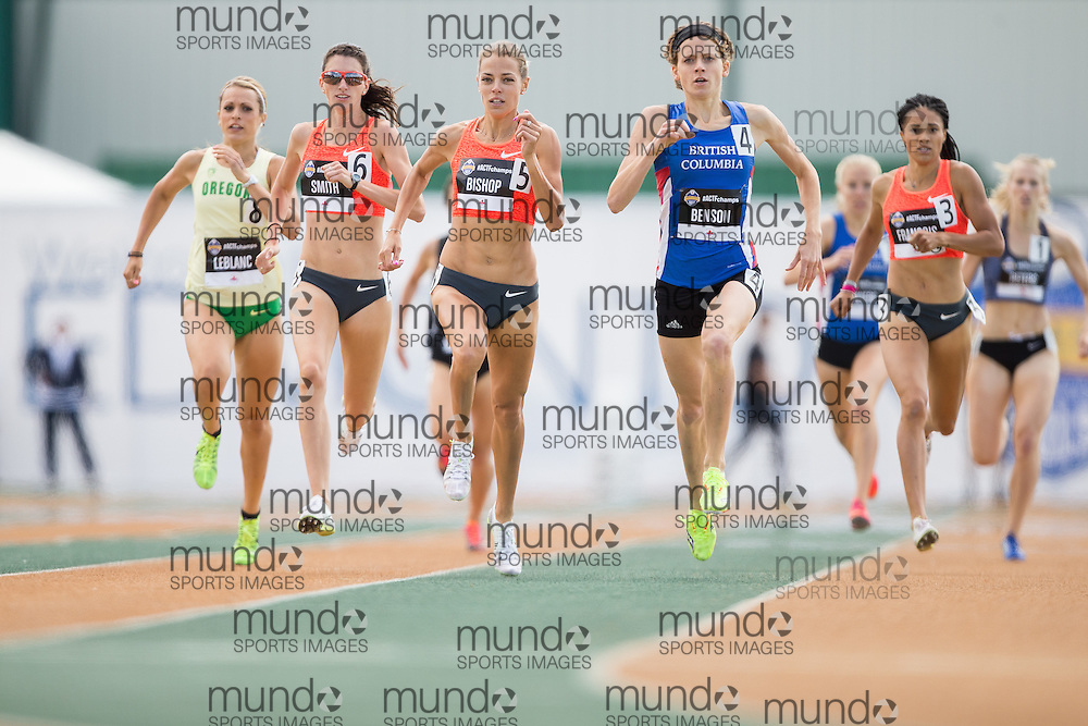 Edmonton, Alberta ---2015-07-05--- Melissa Bishop of the Ottawa Lions competes in the  at the 2015 Track and Field Championships in Edmonton, Alberta July 05, 2015.<br /> GEOFF ROBINS/ Mundo Sport Images