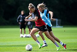 Yana Daniels and Georgia Wilson of Bristol City Women during training at Failand - Mandatory by-line: Robbie Stephenson/JMP - 26/09/2019 - FOOTBALL - Failand Training Ground - Bristol, England - Bristol City Women Training