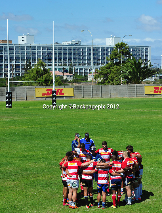General view of the Stormers starting 15 during the 2015 Super Rugby training session for the Stormers at Bellville HPC, Cape Town on 12 February 2015 ©Ryan Wilkisky/BackpagePix