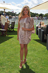 TINA HOBLEY at the 27th annual Cartier International Polo Day featuring the 100th Coronation Cup between England and Brazil held at Guards Polo Club, Windsor Great Park, Berkshire on 24th July 2011.