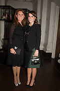 THE DUCHESS OF YORK; PRINCESS EUGENIE OF YORK, Dinner and a performance and film screening from Carnet de and Mike Figgis (who has created a film especially for the event)  to celebrate David Tang and to mark the start of construction of the RA's £50 million redevelopment project.  Royal Academy. Piccadilly. London. 26 October 2015.