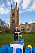 Andrew Mitchell  MP. Marking World Water Day, over 40 MP's walked for water at Westminster, London at an event organised by WaterAid and Tearfund. Globally hundreds of thousands of people took part in the campaign to raise awareness of the world water crisis.