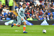 Mateo Kovacic (17) of Chelsea on the attack during the Premier League match between Cardiff City and Chelsea at the Cardiff City Stadium, Cardiff, Wales on 31 March 2019.