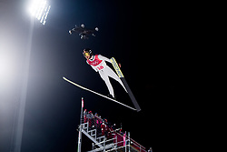 February 8, 2018 - Pyeongchang, SOUTH KOREA - 180208 Manuel Fettner of Austria competes during the Men's Normal Hill Individual Qualification Trial ahead of the 2018 Winter Olympics on February 8, 2018 in Pyeongchang..Photo: Jon Olav Nesvold / BILDBYRN / kod JE / 160146 (Credit Image: © Jon Olav Nesvold/Bildbyran via ZUMA Press)