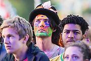 The Who perform on the Pyramid stage. The 2015 Glastonbury Festival, Worthy Farm, Glastonbury.