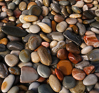 Colorful assortment of pebbles and rocks, Tsitsikamma National Park, Eastern and Western Cape, South Africa