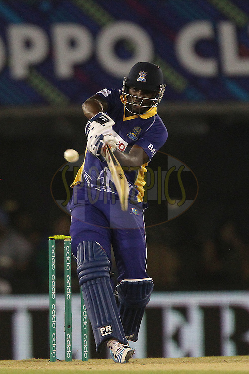 Raymon REIFER of the Barbados Tridents  during match 5 of the Oppo Champions League Twenty20 between the Kings XI Punjab and the Barbados Tridents held at the Punjab Cricket Association Stadium, Mohali, India on the 20th September 2014<br /> <br /> Photo by:  Ron Gaunt / Sportzpics/ CLT20<br /> <br /> <br /> Image use is subject to the terms and conditions as laid out by the BCCI/ CLT20.  The terms and conditions can be downloaded here:<br /> <br /> http://sportzpics.photoshelter.com/gallery/CLT20-Image-Terms-and-Conditions-2014/G0000IfNJn535VPU/C0000QhhKadWcjYs