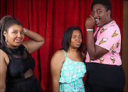 Antoinette, Lala, and Solomon at 'The 20th Annual Hayward Gay Prom,' at Chabot College, in Hayward, CA.
