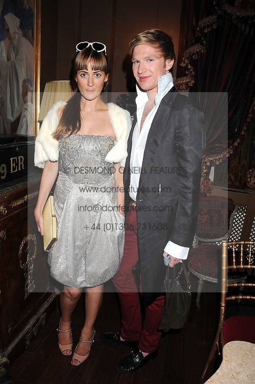 MARY FELLOWES and HENRY CONWAY at a party hosted by the Supper Club in honour of Mary Greenwell held at Beach Blanket Babylon, Ledbury Road, London on 25th June 2008.<br /><br />NON EXCLUSIVE - WORLD RIGHTS