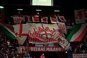 Tifosi A X Armani Exchange Milano<br /> A X Armani Exchange Olimpia Milano - Pallacanestro Cantu\<br /> Basket Serie A LBA 2019/2020<br /> Milano 05 January 2020<br /> Foto Mattia Ozbot / Ciamillo-Castoria