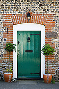 Old Tythe Cottage front door at Happisburgh, Norfolk, United Kingdom