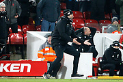 Liverpool Manager Jurgen Klopp is irate when the penalty appeal is turned down during the Premier League match between Liverpool and Newcastle United at Anfield, Liverpool, England on 3 March 2018. Picture by Craig Galloway.