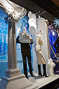 New York City. Bergdorf Goodman department store windows at Fifth Avenue and 57th Street decorated for Christmas Season.