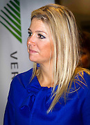 28.SEPTEMBER.2012. LONDON<br /> <br /> PRINCESS MAXIMA OF THE NETHERLANDS VISITS QREDITS MICROFINANCE AND PENSION MARKET FOR ENTREPRENEURS IN AMERSFOORT.<br /> <br /> BYLINE: EDBIMAGEARCHIVE.CO.UK<br /> <br /> *THIS IMAGE IS STRICTLY FOR UK NEWSPAPERS AND MAGAZINES ONLY*<br /> *FOR WORLD WIDE SALES AND WEB USE PLEASE CONTACT EDBIMAGEARCHIVE - 0208 954 5968*