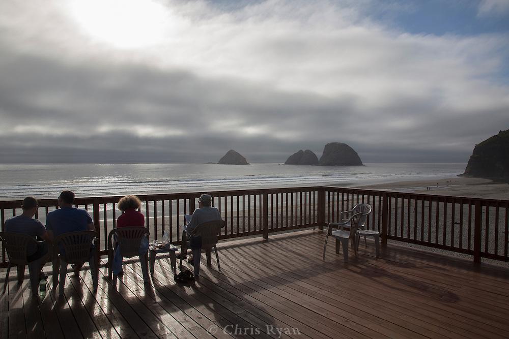 Three Arch Rocks National Wildlife Refuge seen from Oceanside, Oregon