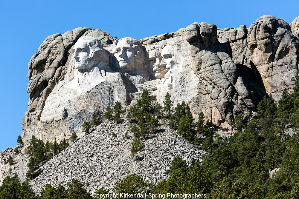 SD00003-00...SOUTH DAKOTA - Presendents George Washington, Thomas Jefferson, Theodore Roosevelt and Abraham Lincon  carved into a mountain side at Mount Rushmore National Memorial.