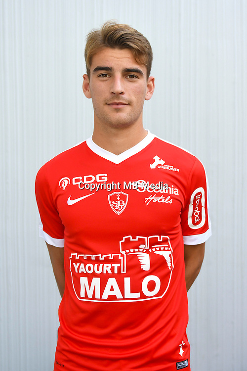 Valentin Henry of Brest during the Photo shooting of Stade Brestois in Brest on september 22th 2016<br /> Photo : Philippe Le Brech / Icon Sport