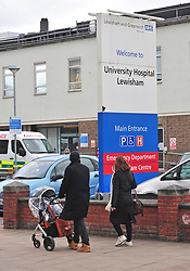 ©Licensed to London News Pictures 03/03/2020<br /> Lewisham, UK. Lewisham Hospital. A Chinese woman diagnosed with Coronavirus after getting an Uber to Lewisham hospital has been discharged after recovering. Photo credit: Grant Falvey/LNP