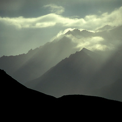 Clearing storm in the Alaska Range.  Denali National Park, AK