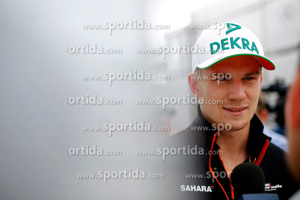 03.07.2014, Silverstone Circuit, Silverstone, ENG, FIA, Formel 1, Grand Prix von Grossbritannien, Vorberichte, im Bild Nico Hulkenberg (GER) Force India F1 // during the preperation of British Formula One Grand Prix at the Silverstone Circuit in Silverstone, Great Britain on 2014/07/03. EXPA Pictures &copy; 2014, PhotoCredit: EXPA/ Sutton Images<br /> <br /> *****ATTENTION - for AUT, SLO, CRO, SRB, BIH, MAZ only*****