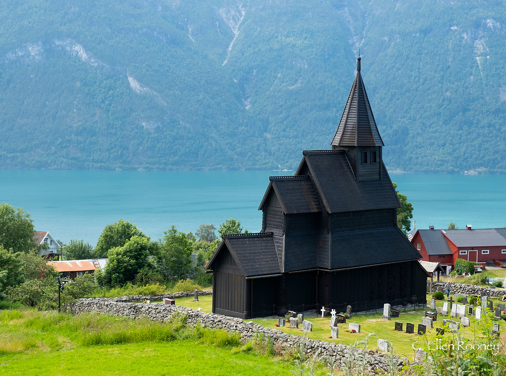 The Stave Church in Urnes on Sognefjord, Norway, Europe