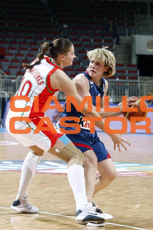 DESCRIZIONE : Riga Latvia Lettonia Eurobasket Women 2009 Semifinal Bielorussia Francia Belarus France<br /> GIOCATORE :  Cathrine Melain<br /> SQUADRA : Francia France<br /> EVENTO : Eurobasket Women 2009 Campionati Europei Donne 2009 <br /> GARA : Bielorussia Francia Belarus France<br /> DATA : 19/06/2009 <br /> CATEGORIA : <br /> SPORT : Pallacanestro <br /> AUTORE : Agenzia Ciamillo-Castoria/E.Castoria<br /> Galleria : Eurobasket Women 2009 <br /> Fotonotizia : Riga Latvia Lettonia Eurobasket Women 2009 Semifinal Bielorussia Francia Belarus France<br /> Predefinita :