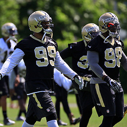 May 28, 2015; New Orleans, LA, USA; New Orleans Saints linebacker Anthony Spencer (99) during organized team activities at the New Orleans Saints Training Facility. Mandatory Credit: Derick E. Hingle-USA TODAY Sports