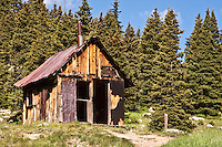 an old cabin at the historic mining town of Animas Forks.  San Juan Mountains, Colorado.