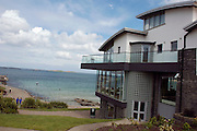 UK, Northern Ireland, County Antrim, Portrush exterior of the Cafe 55 building
