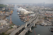 Duwamish River from the air shows why the waterway is key and how it has become so polluted and continues to be polluted.