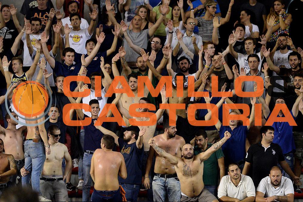 DESCRIZIONE : Roma Lega A 2014-15 Acea Roma Pasta Reggio Caserta<br /> GIOCATORE : tifosi virtus roma<br /> CATEGORIA : pubblico<br /> SQUADRA : Acea Roma Pasta Reggio Caserta FIP Italia<br /> EVENTO : Campionato Lega A 2014-2015<br /> GARA : Acea Roma Pasta Reggio Caserta<br /> DATA : 12/10/2014<br /> SPORT : Pallacanestro <br /> AUTORE : Agenzia Ciamillo-Castoria/M.Greco<br /> Galleria : Lega Basket A 2014-2015 <br /> Fotonotizia : Roma Lega A 2014-15 Acea Roma Pasta Reggio Caserta