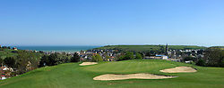 Omaha Beach Golf Club - Course: La Mer (The Sea) - Hole 2 - 165 yards - Par 3. The view from the green at hole 2. (Photo © Jock Fistick)
