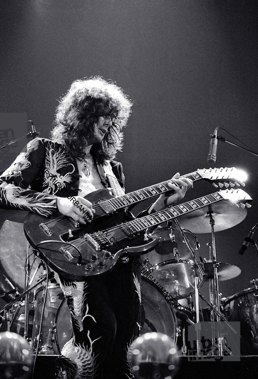 Jimmy Page - Led Zeppelin at Earls Court Arena in London in May 1975