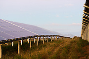 Rows of solar panels for the Solaire Direct Solar Park
