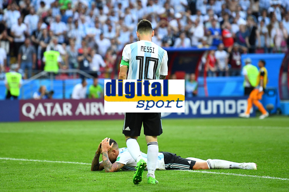 Soccer Football - World Cup - Round of 16 - France vs Argentina - Kazan Arena, Kazan, Russia - June 30, 2018 Argentina s Lionel Messi looks dejected after the match FOOTBALL : France vs Argentine - Coupe du Monde 2018 - Kazan - 30/06/2018 AI/Reuters/Panoramic PUBLICATIONxNOTxINxFRAxITAxBEL AI