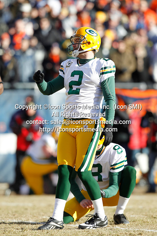 23 January 2011: The Green Bay Packers defeated the Chicago Bears 21-14 in the NFC Championship playoff game at Soldier Field in Chicago, IL., on January 23, 2011.