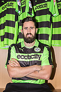 Chris Clements signing for Forest Green Rovers at the New Lawn, Forest Green, United Kingdom on 31 January 2018. Picture by Shane Healey.