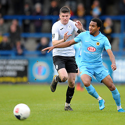 TELFORD COPYRIGHT MIKE SHERIDAN Matt Stenson of Telford (on loan from Solihull Moors) chases down during the Vanarama National League Conference North fixture between AFC Telford United and Boston on Saturday, November 2, 2019.<br /> <br /> Picture credit: Mike Sheridan/Ultrapress<br /> <br /> MS201920-028