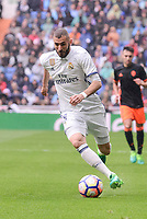 Real Madrid's Karim Benzema during La Liga match between Real Madrid and Valencia CF at Santiago Bernabeu Stadium in Madrid, April 29, 2017. Spain.<br /> (ALTERPHOTOS/BorjaB.Hojas)