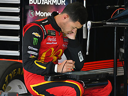 February 23, 2019 - Hampton, GA, U.S. - HAMPTON, GA - FEBRUARY 23: Kyle Larson, Chip Ganassi Racing, Chevrolet Camaro McDonald's (42) looks at data during practice for the Monster Energy Cup Series QuikTrip Folds of Honor 500 on February 23, 2019, at Atlanta Motor Speedway in Hampton, GA.(Photo by Jeffrey Vest/Icon Sportswire) (Credit Image: © Jeffrey Vest/Icon SMI via ZUMA Press)