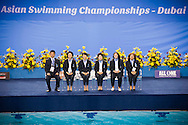 Team Synchro Judges .18/11/2012.9th Asian Swimming Championships.Dubai - U.A.E.  Nov.15th - 25th 2012.Day 04.Photo Giorgio Perottino/Deepbluemedia/Insidephoto