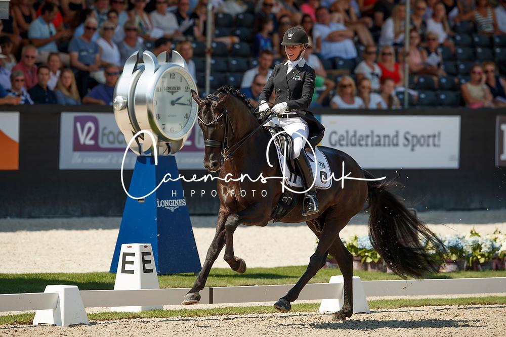 Freese Isabel, NOR, Fuersten Look<br /> World ChampionshipsYoung Dressage Horses<br /> Ermelo 2018<br /> © Hippo Foto - Dirk Caremans<br /> 03/08/2018