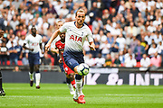 Tottenham Hotspur Forward Harry Kane (10) in action during the Premier League match between Tottenham Hotspur and Fulham at Wembley Stadium, London, England on 18 August 2018.