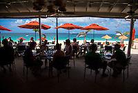 Anguilla - January 5, 2015: Patrons dine at the restaurant Straw Hat, which is now part of the Frangipani Beach Resort on Meads Bay. CREDIT: Chris Carmichael for The New York Times