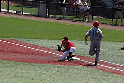 05 May 2018:  Jake McCaw & Andrew Ivelia during an NCAA Division I Baseball game between the Bradley Braves and the Illinois State Redbirds in Duffy Bass Field, Normal IL