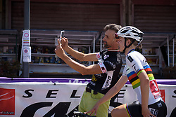 World Champion, Amalie Dideriksen is always in demand for selfies - Stage 9 of the Giro Rosa - a 122.3 km road race, between Centola fraz. Palinuro and Polla on July 8, 2017, in Salerno, Italy. (Photo by Sean Robinson/Velofocus.com)