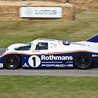 #1, Porsche 962 at the Goodwood FOS on 28 June 2015