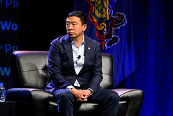Democratic Presidential hopeful businessman Andrew Yang attends the Philadelphia Council AFL-CIO Workers' Presidential Summit, at the Pennsylvania Convention Center in Philadelphia, PA, on September 17, 2019.