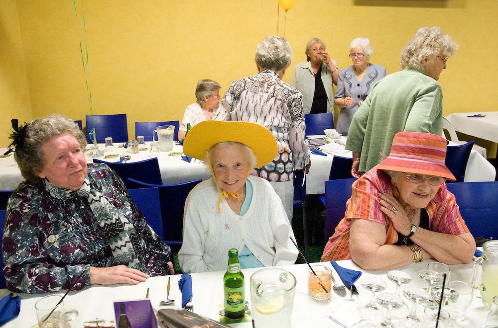 Legacy widows with Elsie Stefan, centre in yellow hat - Fremantle Workers' Social and Leisure Club Melbourne Cup Day - 03 November 2009 - Photo by David Dare Parker °SOUTH