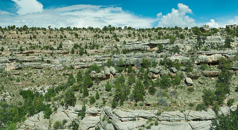 Walnut Canyon National Monument, Sinagua Native ruins, outside Flagstaff, Arizona, 1100-1225 AD